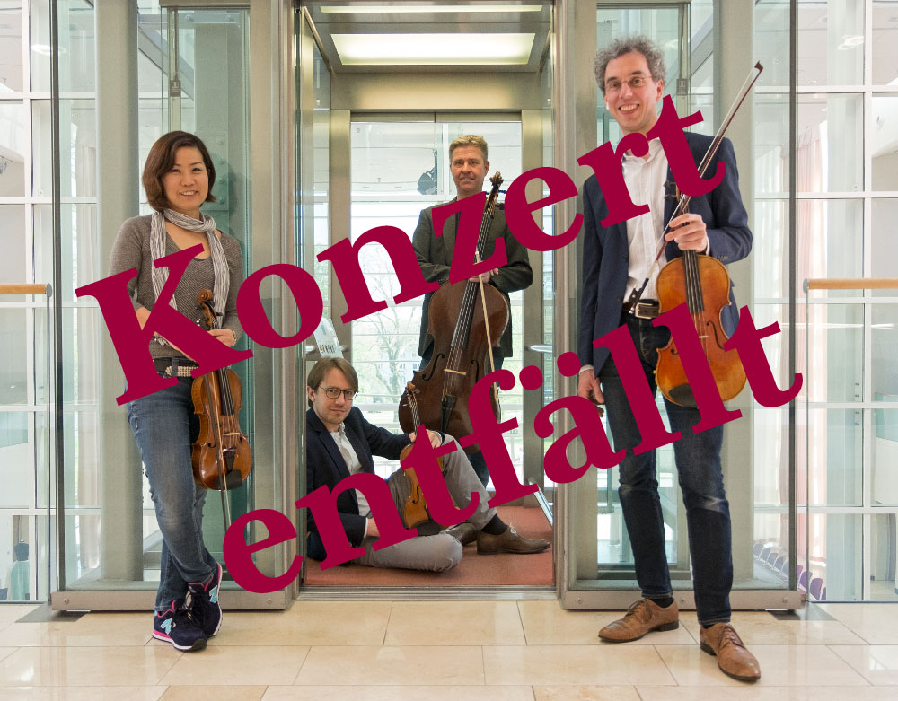 Das Konzert des Mannheimer Streichquartetts entfällt
